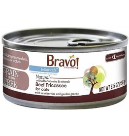 Bravo Bravo Canned Cat CASE Beef Fricassee 5.5 oz