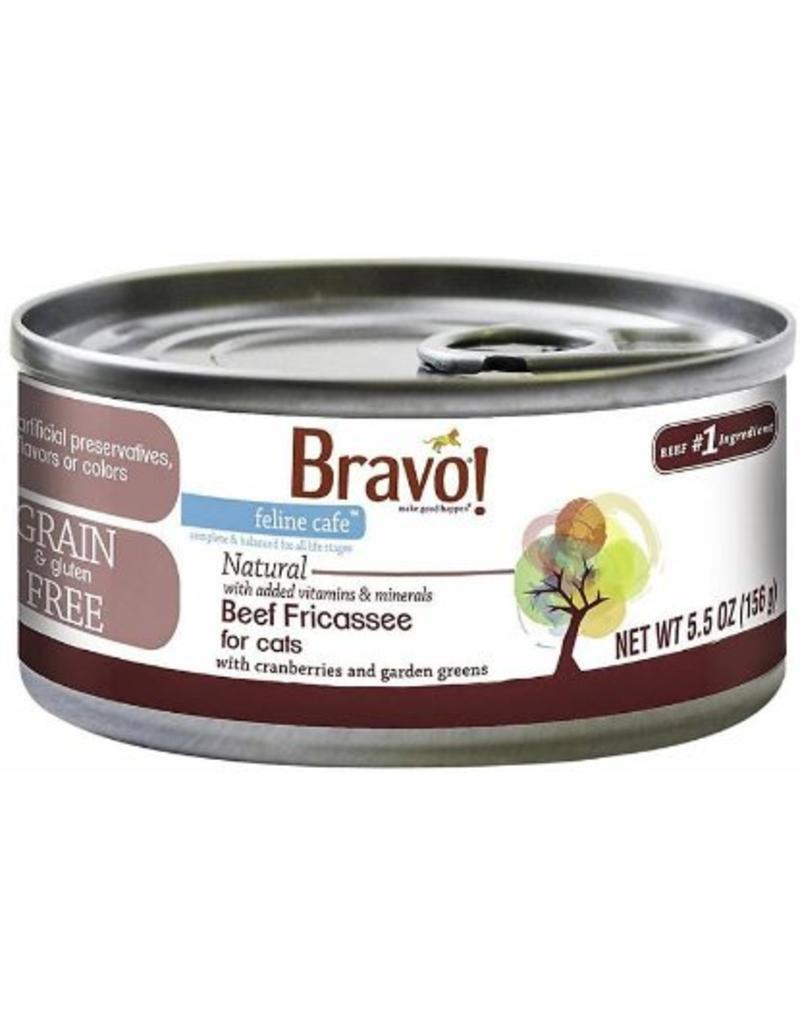 Bravo Bravo Canned Cat CASE Beef Fricassee 5.5 oz