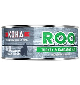 Koha Koha Canned Cat Food CASE of 24 Kangaroo & Turkey Pate 5.5 oz