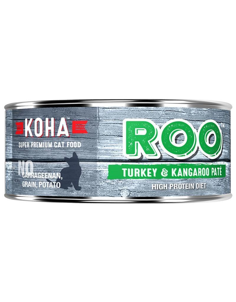 Koha Koha Canned Cat Food CASE of 24 Kangaroo & Turkey Pate 5.5 oz
