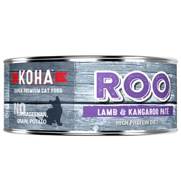 Koha Koha Canned Cat Food CASE of 24 Kangaroo & Lamb Pate 5.5 oz