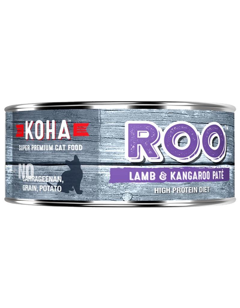 Koha Koha Canned Cat Food CASE of 24 Kangaroo & Lamb Pate 5.5 oz