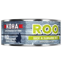 Koha Koha Canned Cat Food CASE of 24 Kangaroo & Duck Pate 5.5 oz