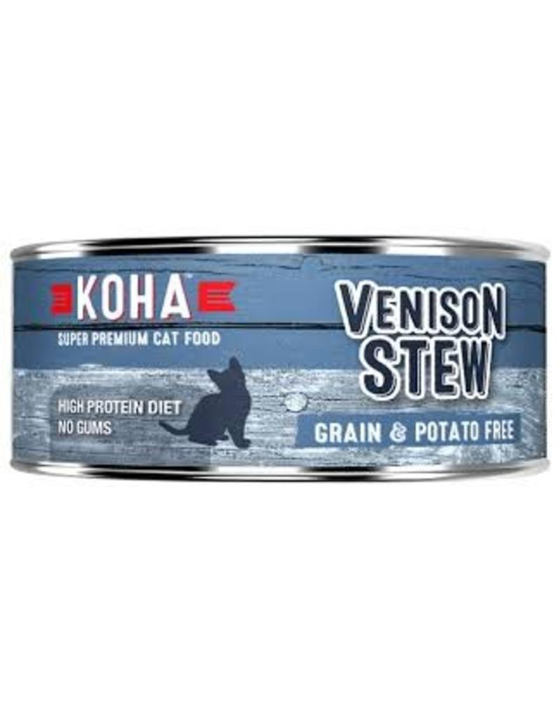 Koha Koha Canned Cat Food CASE of 24 Venison Stew 5.5 oz