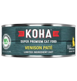 Koha Koha Canned Cat Food CASE of 24 Venison Pate 5.5 oz