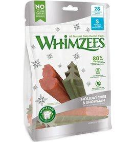 Whimzees Treats Holiday Tree & Snowman Small