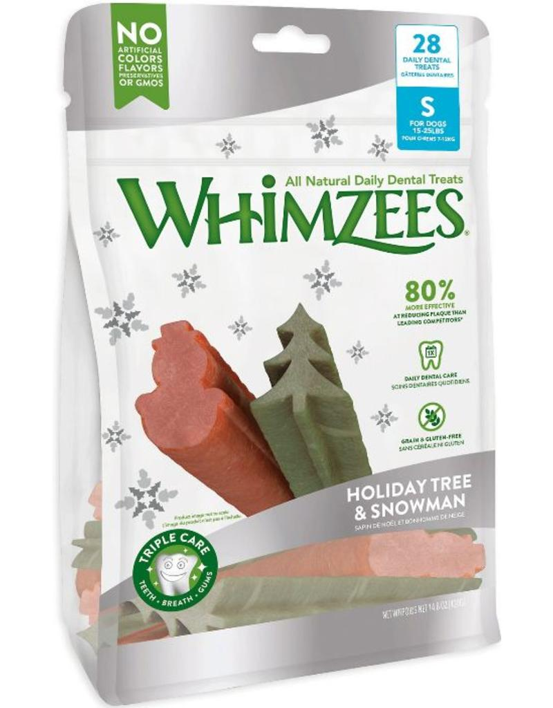 Whimzees Treats Holiday Tree & Snowman Small