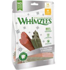 Whimzees Whimzees Treats Holiday Tree & Snowman Medium