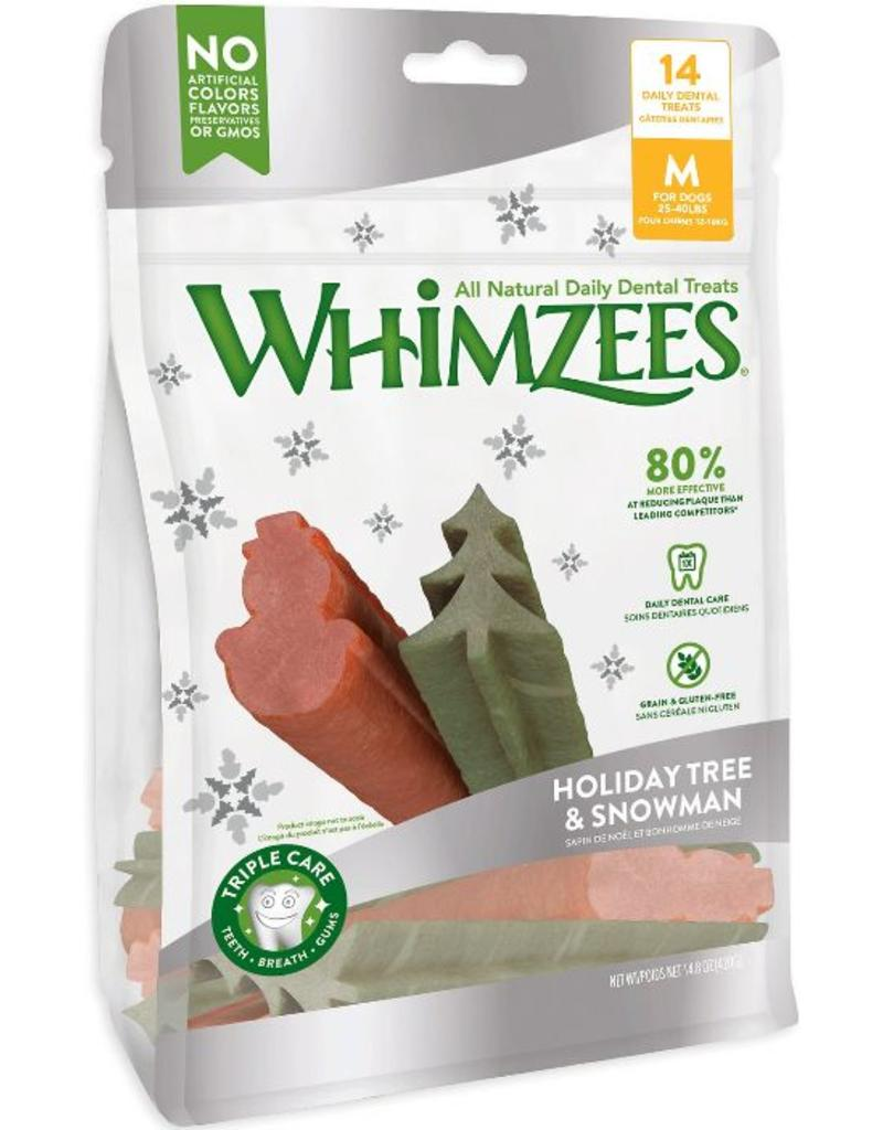 Whimzees Treats Holiday Tree & Snowman Medium