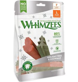 Whimzees Treats Holiday Tree & Snowman Large