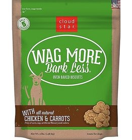 Cloud Star Cloud Star  Wag More Bark Less Gluten Free Biscuits Chicken & Carrots 3 lbs