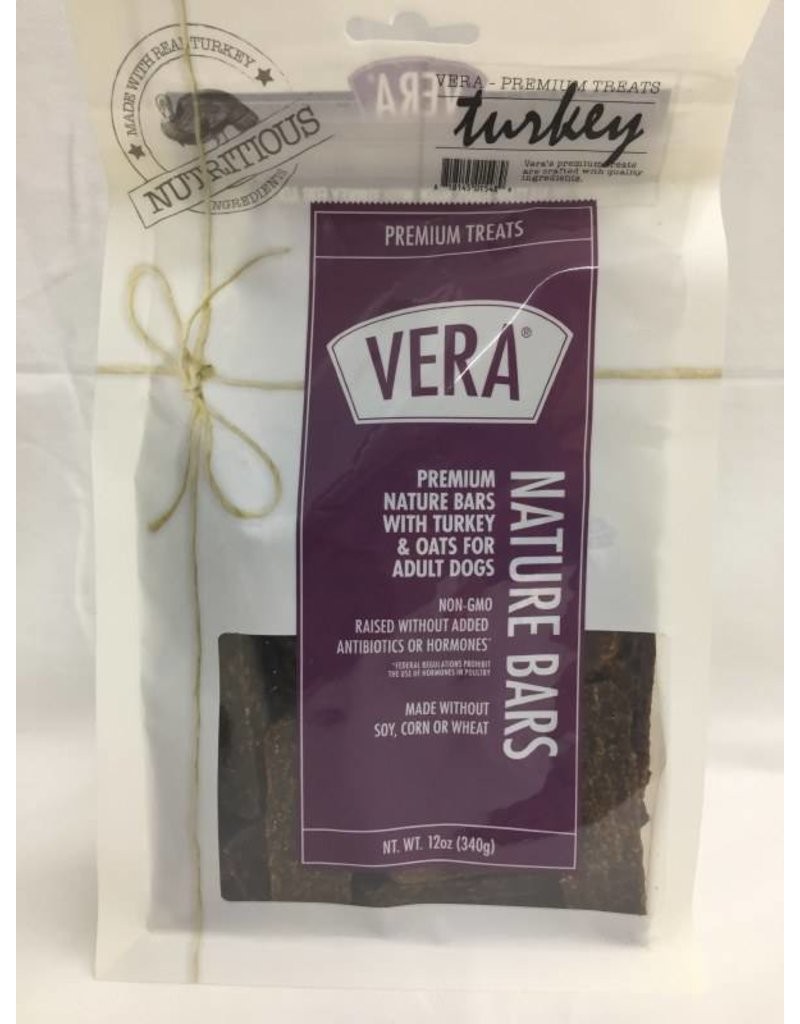 Vera Dog Treats Turkey & Oats Bar 12 pc 12 oz