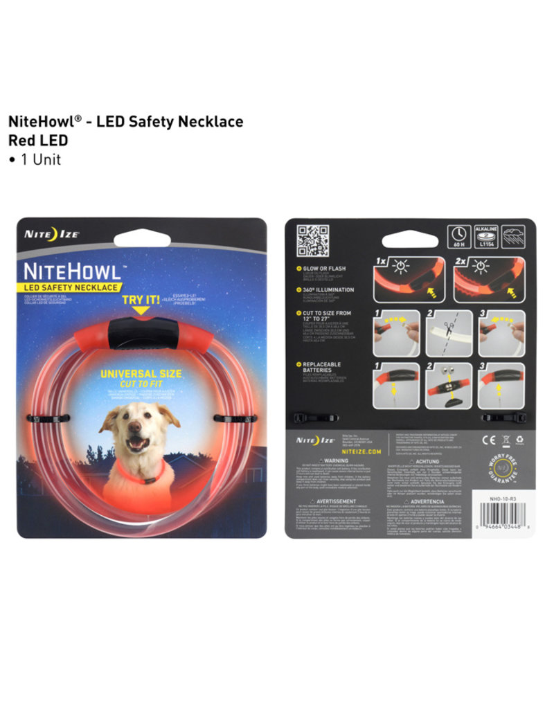 Nite Ize Nite Ize NiteHowl LED Safety Necklace Red
