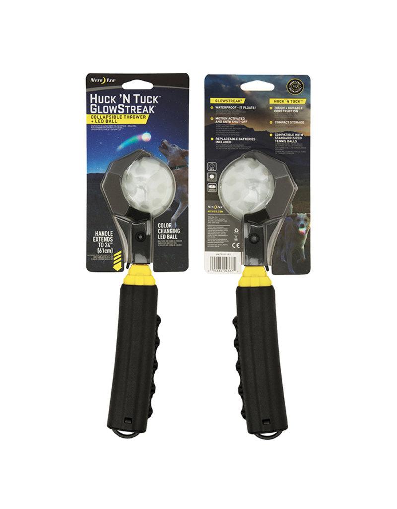 Nite Ize Nite Ize Huck 'N Tuck Collapsible Thrower GlowStreak LED Ball