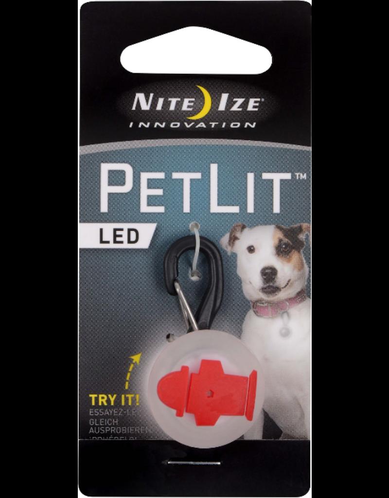 Nite Ize Nite Ize PetLit LED Collar Light Red Hydrant