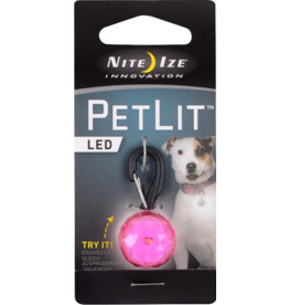 Nite Ize Nite Ize PetLit LED Collar Light Jewel Pink