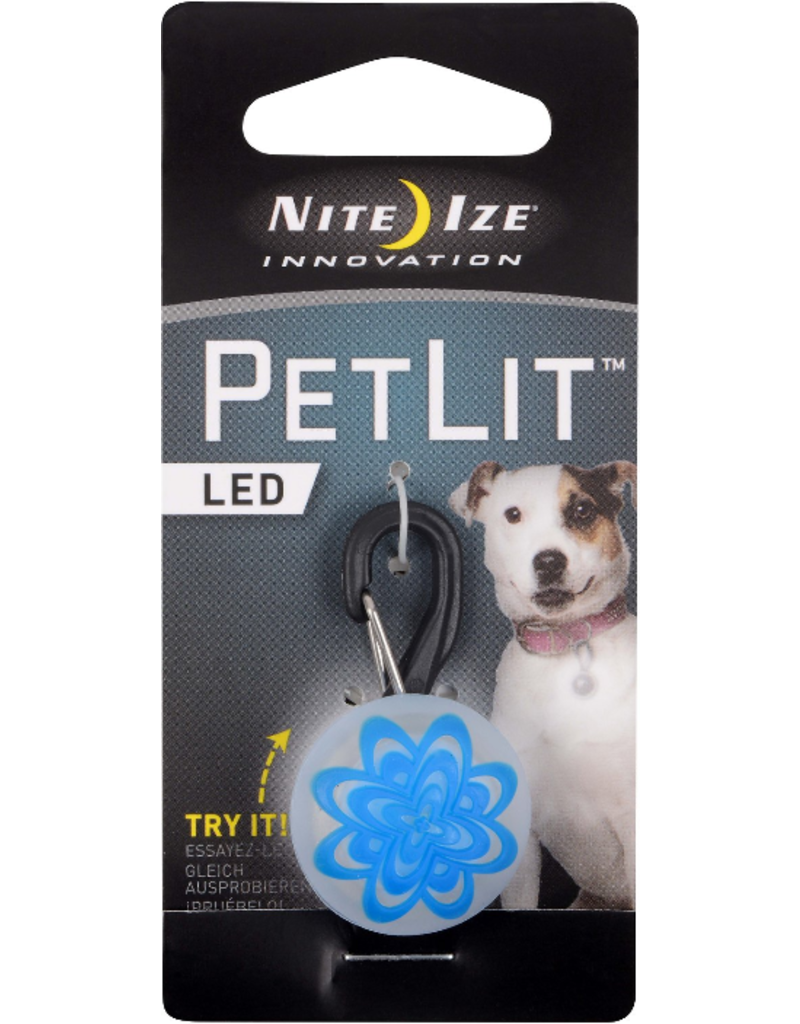 Nite Ize Nite Ize PetLit LED Collar Light Blue Burst