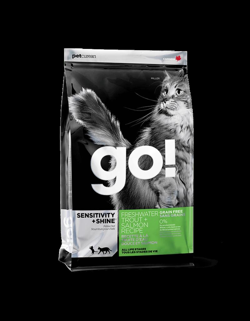 Petcurean GO! Cat Kibble 4 lb Trout & Salmon Recipe Sensitivity + Shine