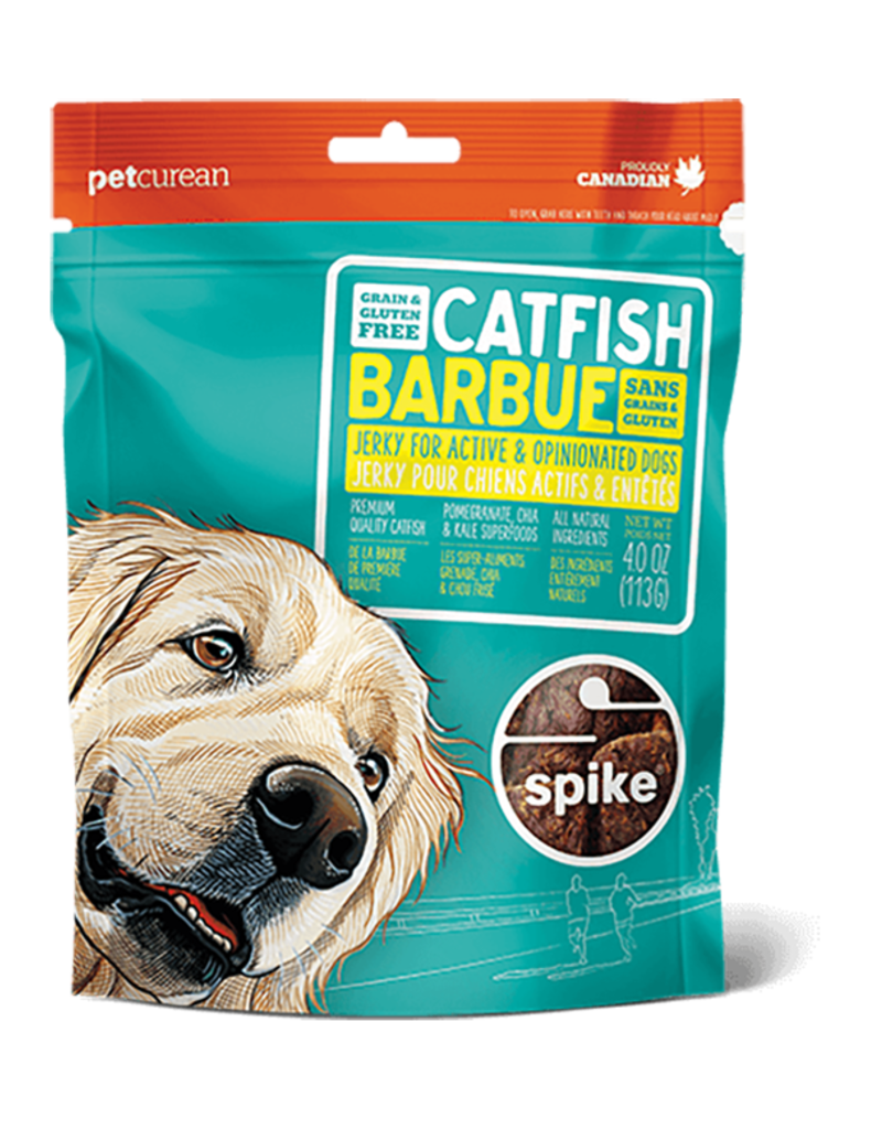 Petcurean Dog Jerky Treats Grain Free Catfish Spike Jerky 4 oz