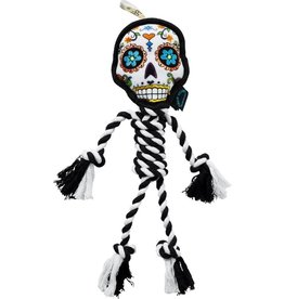 Go Dog Chew Sugar Skull Rope White- Large