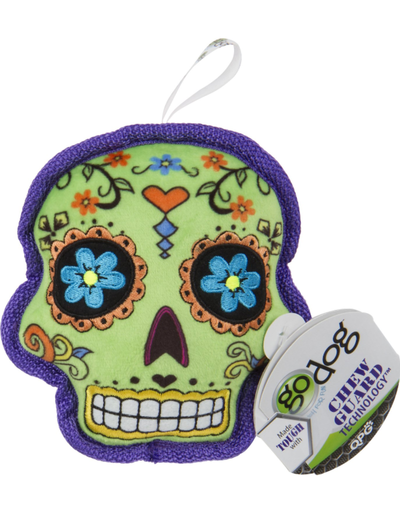 Go Dog Sugar Skull Chew Green- Small