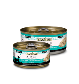 Canidae Canidae GF Pure Adore Canned Cat Food Tuna, Chicken & Whitefish in Broth 2.46 oz single