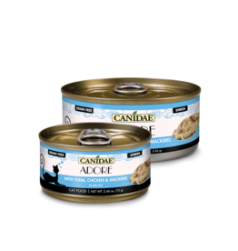 Canidae Canidae GF Pure Adore Canned Cat Food Tuna, Chicken & Mackerel in Broth 5.5 oz single