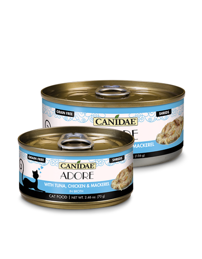 Canidae Canidae GF Pure Adore Canned Cat Food Tuna, Chicken & Mackerel in Broth 2.46 oz single