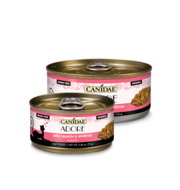 Canidae Canidae GF Pure Adore Canned Cat Food Salmon & Whitefish in Broth 2.46 oz single