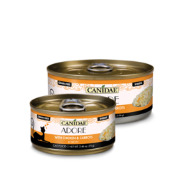 Canidae Canidae GF Pure Adore Canned Cat Food Chicken & Carrots in Broth 2.46 oz single