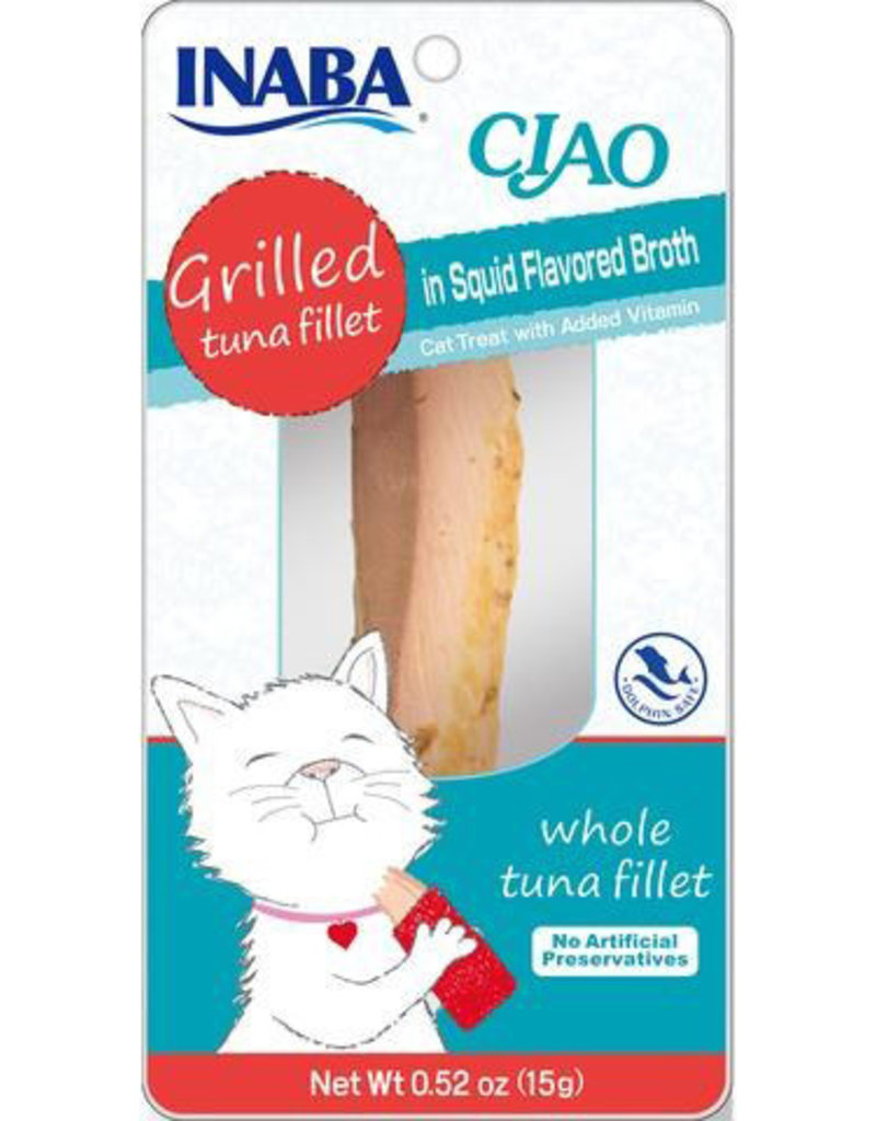 Inaba Inaba Fillets Cat Treats Tuna in Squid Broth .52 oz single