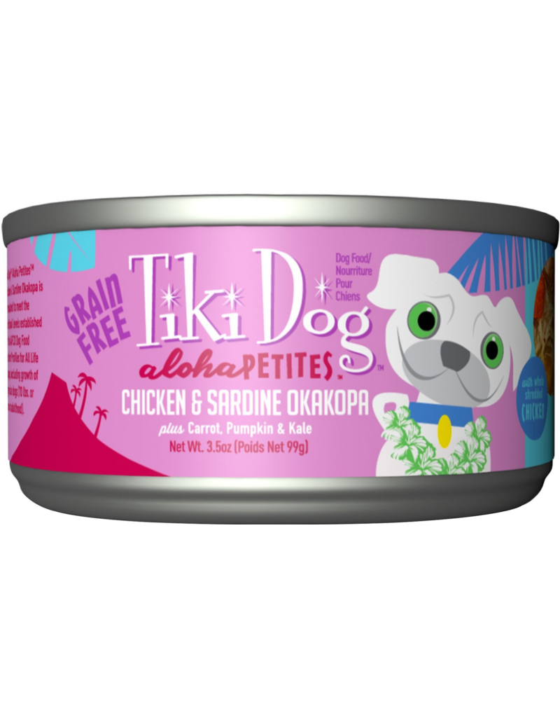Tiki Dog Aloha Petites Canned Dog Food Okakopa 3.5 oz single