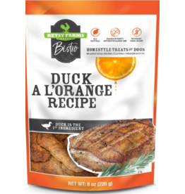 Betsy Farms Betsy Farms Bistro Dog Treats Duck a L'Orange 8 oz