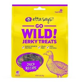 Etta Says Etta Says Go Wild! Jerky Dog Treats Duck 6 oz