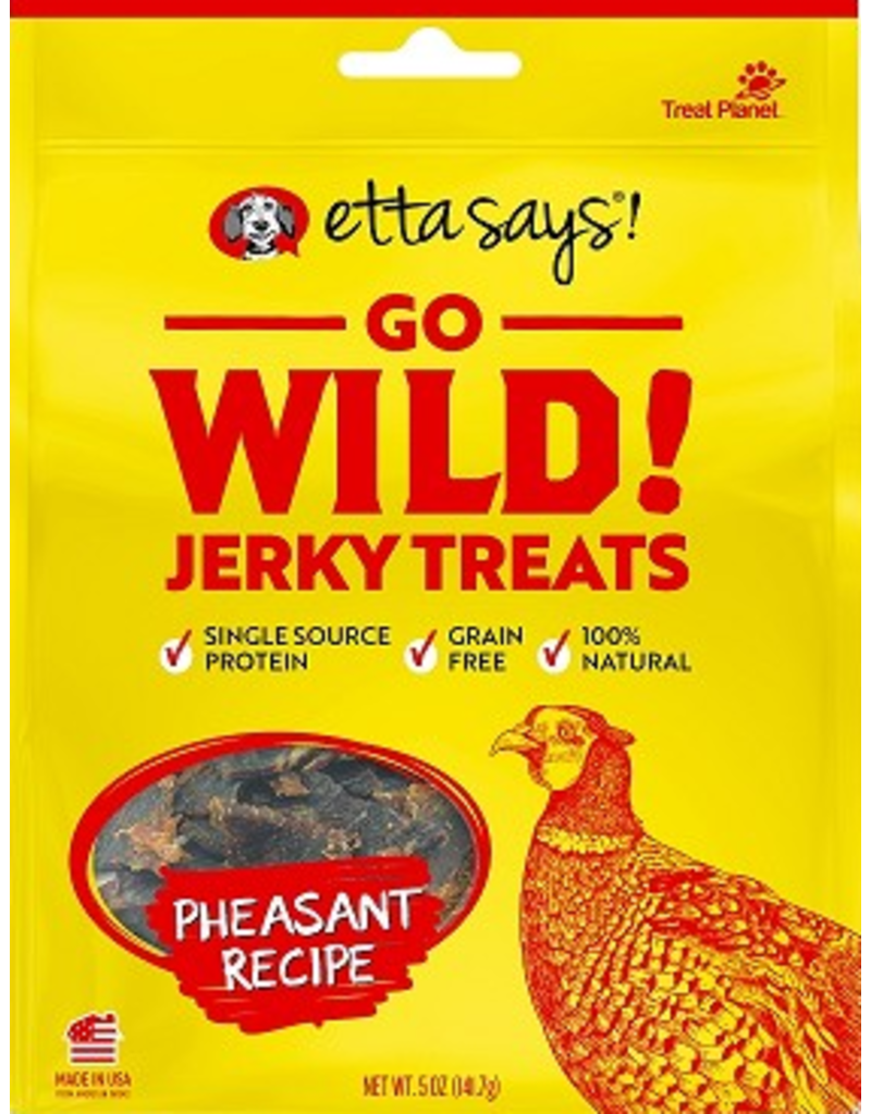 Etta Says Etta Says Go Wild! Jerky Dog Treats Pheasant 5 oz