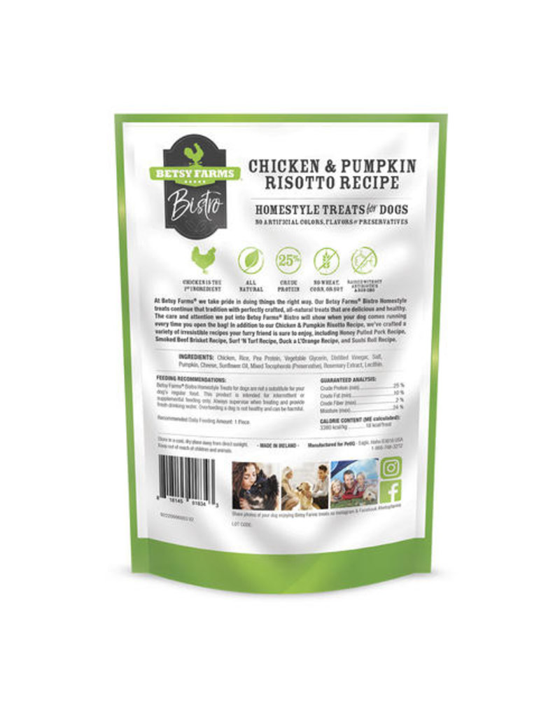 Betsy Farms Betsy Farms Bistro Dog Treats Chicken & Pumpkin Risotto 3 oz