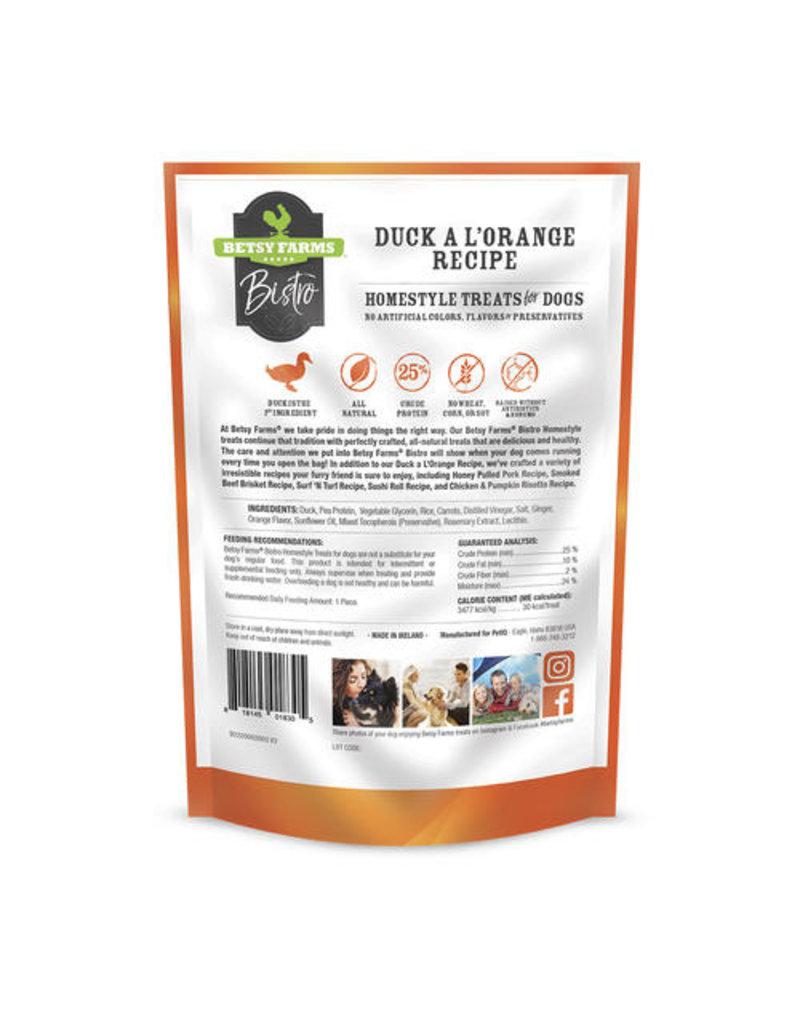 Betsy Farms Betsy Farms Bistro Dog Treats Duck a L'Orange 3 oz