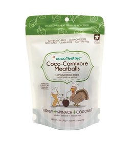 CoCo Therapy Coco Therapy Dog Treats | Carnivore Meatballs Turkey 2.5 oz