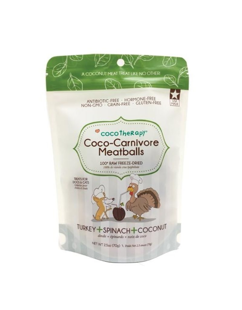 CoCo Therapy Coco Therapy Dog Treats Carnivore Meatballs Turkey 2.5 oz