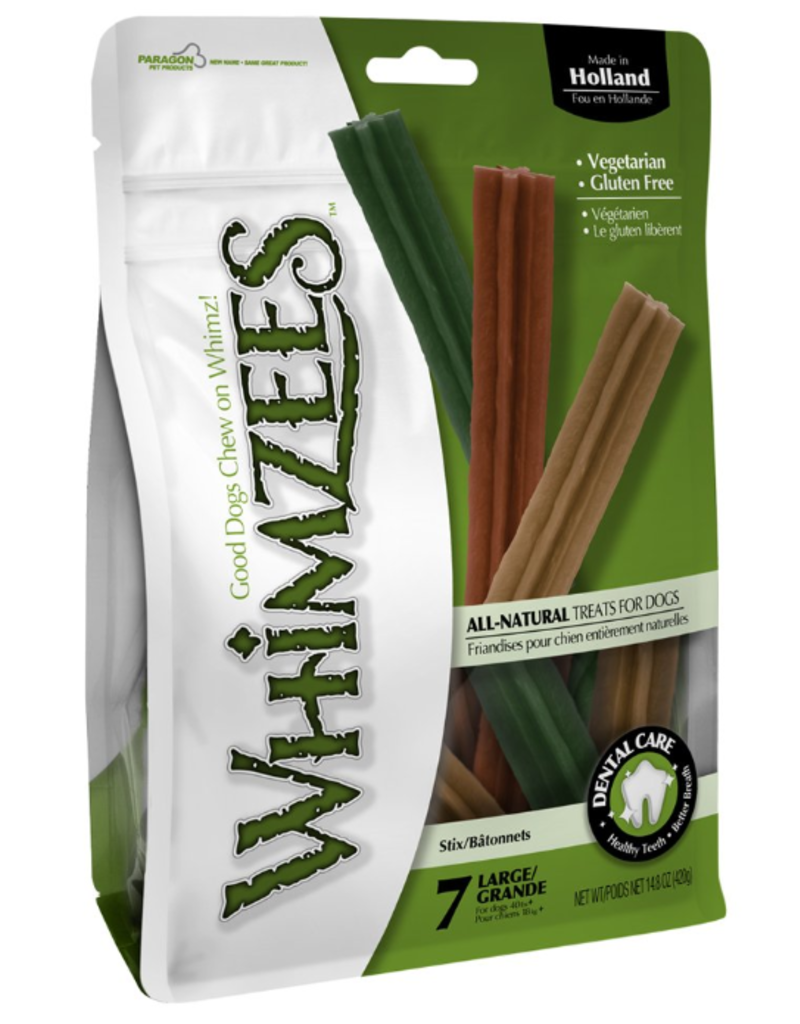 Whimzees Dog Treats Stix 7 pieces Large 14.8 oz