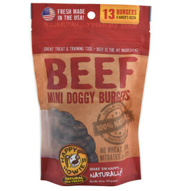 "Happy Howie's Happy Howie's Dog Treats Baker's Dozen 2"" Beef Mini Burger 4.6 oz"