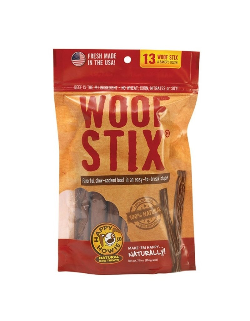 "Happy Howie's Happy Howie's Dog Treats Baker's Dozen 6"" Beef Woof Stix 7.5 oz"