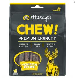 Etta Says Etta Says Chew! Premium Crunchy Dog Treats Venison 4.5 oz