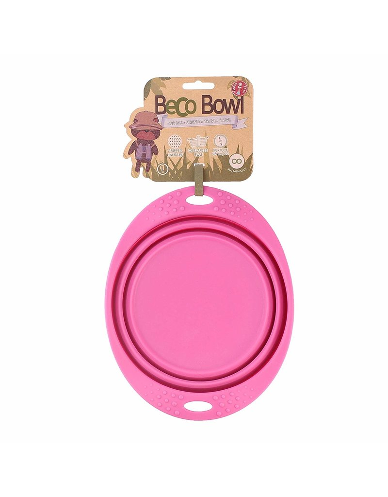 Beco pets Beco Travel Bowl Large Pink