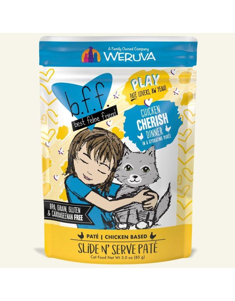 Weruva Best Feline Friend PLAY Chicken Based Slide N' Serve Pate | Chicken Cherish Dinner in Puree 3 oz single