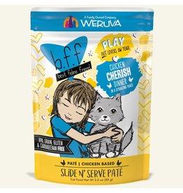 Weruva Best Feline Friend PLAY Chicken Based Slide N' Serve Pate   CASE Chicken Cherish Dinner in Puree 3 oz