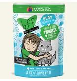 Weruva Best Feline Friend PLAY Land & Sea Slide N' Serve Pate   CASE Turkey & Tuna Twinkles Dinner in Puree 3 oz