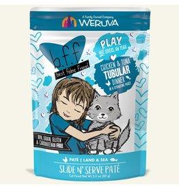 Weruva Best Feline Friend PLAY Land & Sea Slide N' Serve Pate   Chicken & Tuna Tubular Dinner in Puree 3 oz single