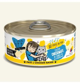 Weruva Best Feline Friend PLAY Chicken Based Pate | Chicken Checkmate Dinner in Puree 5.5 oz single