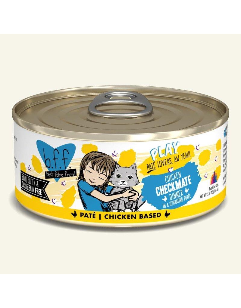 Weruva Best Feline Friend PLAY Chicken Based Pate | Chicken Checkmate Dinner in Puree 5.5 oz single